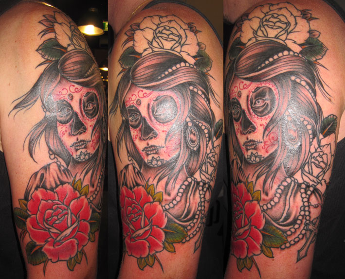 day of dead skull tattoo designs. Day Dead Skull Tattoos right